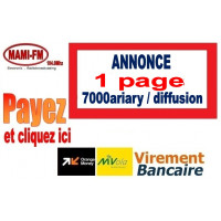 Annonce 1 page