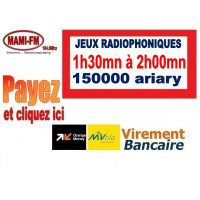 Jeux radiophoniques 1h30 à 2h00